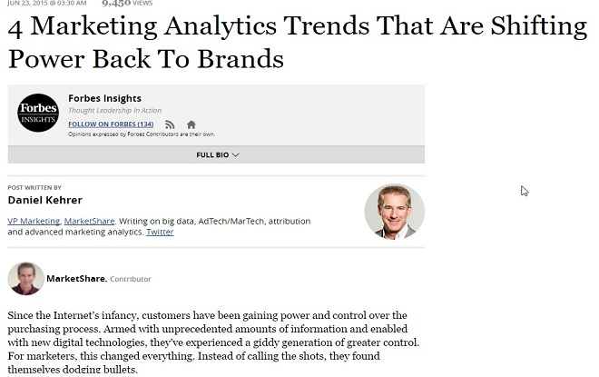 4 Marketing Analytics Trends