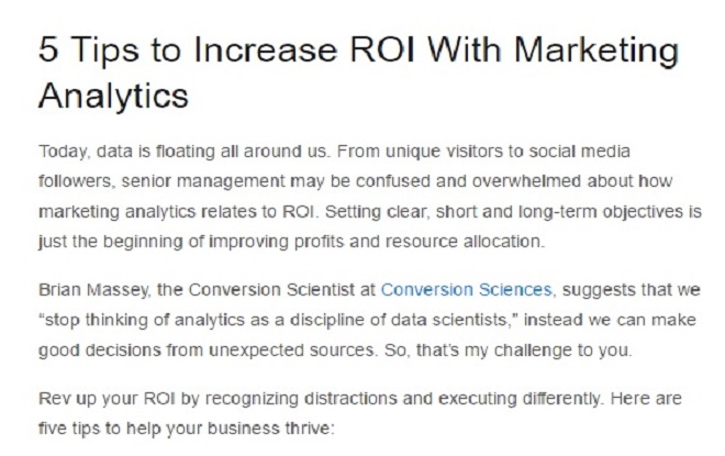Increase ROI with Marketing Analytics
