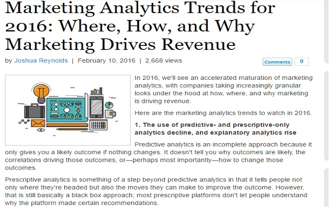 Marketing Analytics Trends