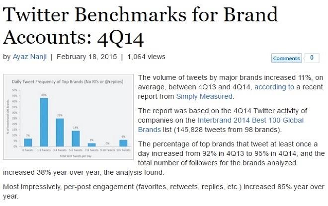 Twitter benchmark