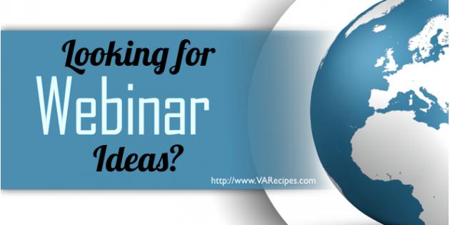 Webinar Ideas