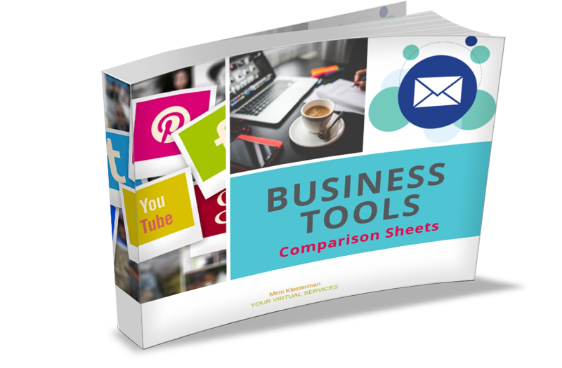 Business Tools Comparison Sheet